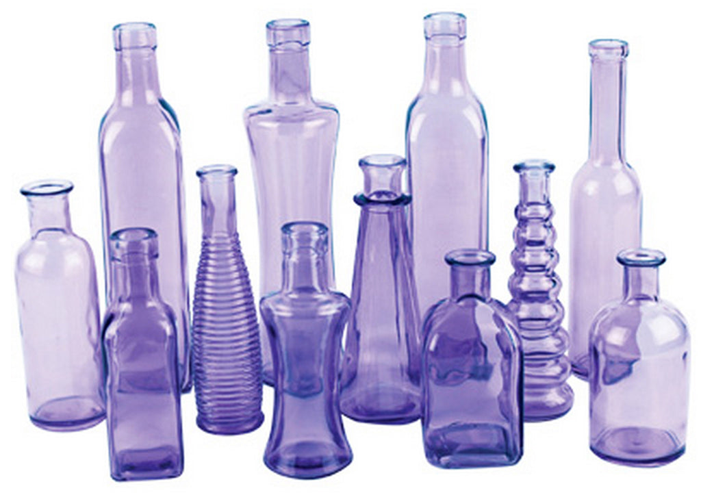 "3203-24-425 VINTAGE BOTTLE JAR 3X6.5"" - PURPLE - CS(24)"
