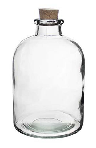 "3224-00-09 APOTHECARY BOTTLE W/ CORK 1.125X6.75"" - CS(12)"