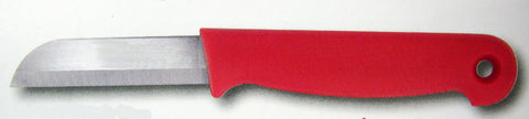 34013 RED FLORAL KNIFE - CS(100)