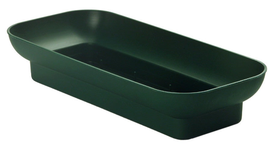 "3802-04 Double Design Bowl 2x4 5/8x10.25"" - Green"