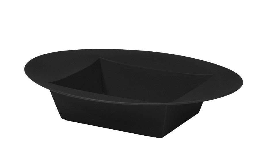 "3822-02 Oval Bowl - 4.5"" L x 3 3/8"" W x 1.5""H - Onyx - Cs(24)"