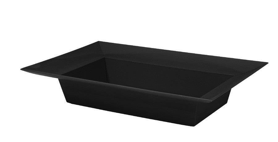 "3824-02 Rectangle Bowl 9.125x4.25x2"" - Onyx - CS(24)"