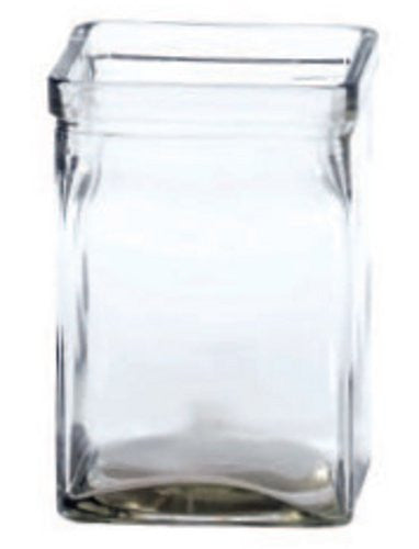 "4-446GLS/1CL BLOCK VASE 4x6"" - CS(12)"