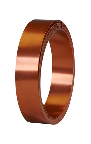 40-12485 Flat Wire 1''x15' - Copper - CS(10)