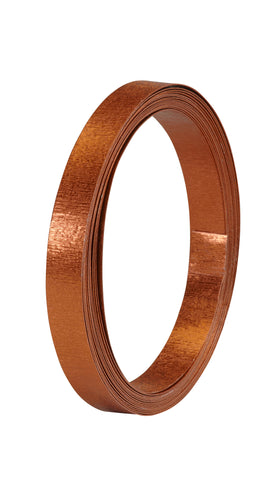 40-12488 Flat Wire 1/2''x15' - Copper Matte - CS(10)