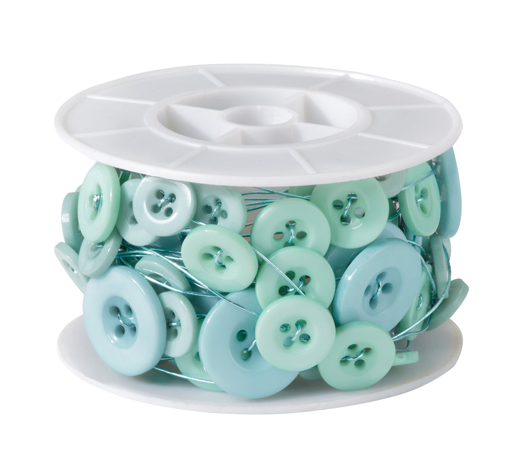 41-12452 Button Wire 18' - Aqua - CS(6)