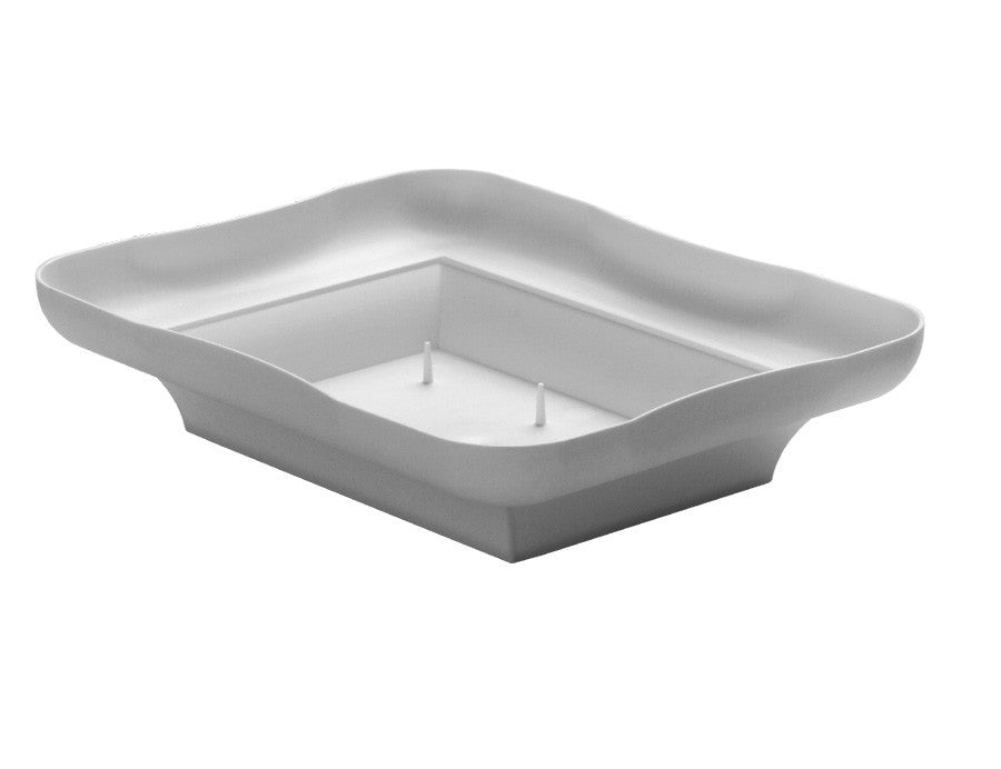 3805-01 Centerpiece Tray 2x6.5x8.5' - White