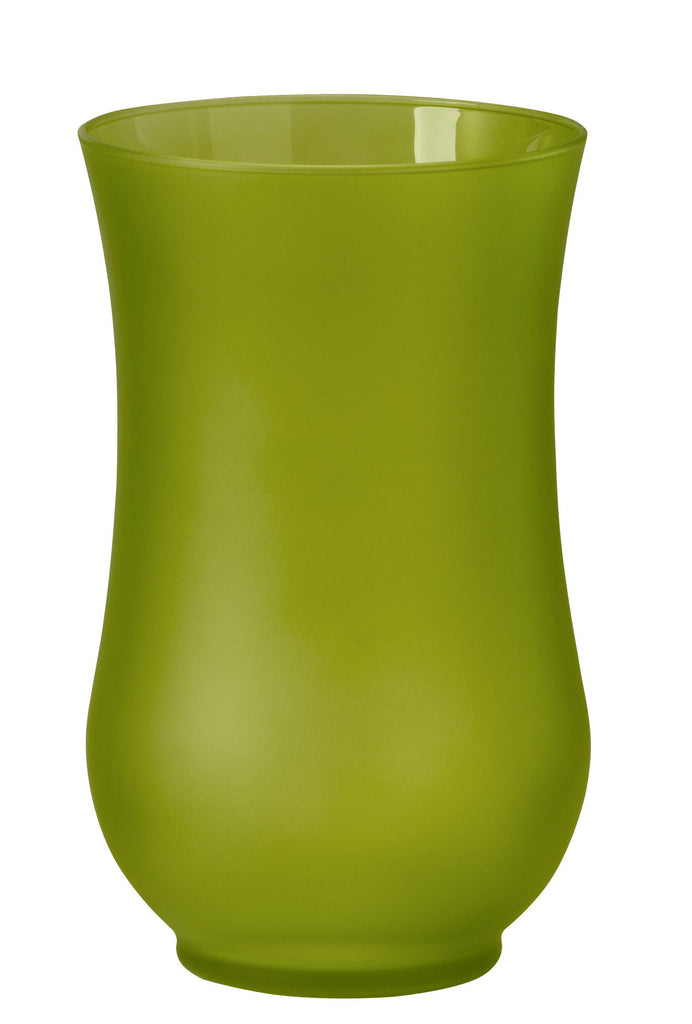 "45-52708 HURRICANE VASE 5.4X9"" - APPLE GREEN ICE - CS(4)"