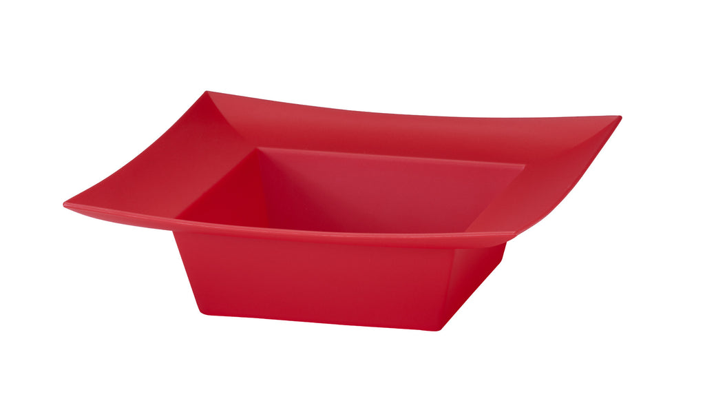 "45-82303 Square Bowl 5x5x2"" - Red - Cs(24)"