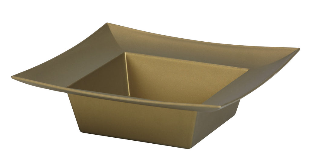 "45-82305 Square Bowl 5x5x2"" - Gold - Cs(24)"