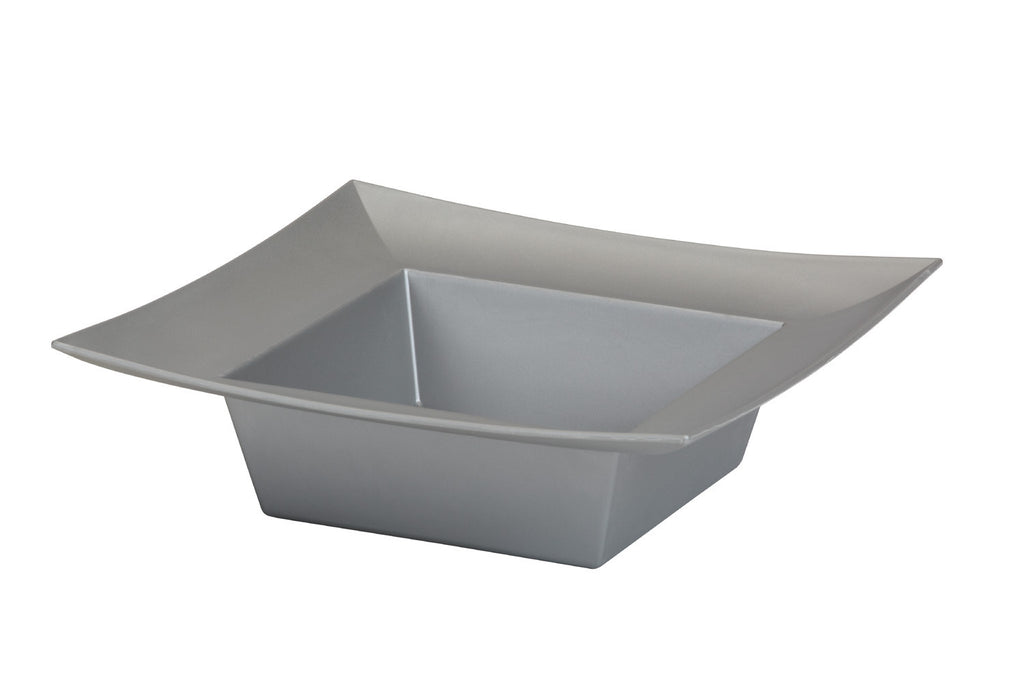 "45-82306 Square Bowl 5x5x2"" - Silver - Cs(24)"