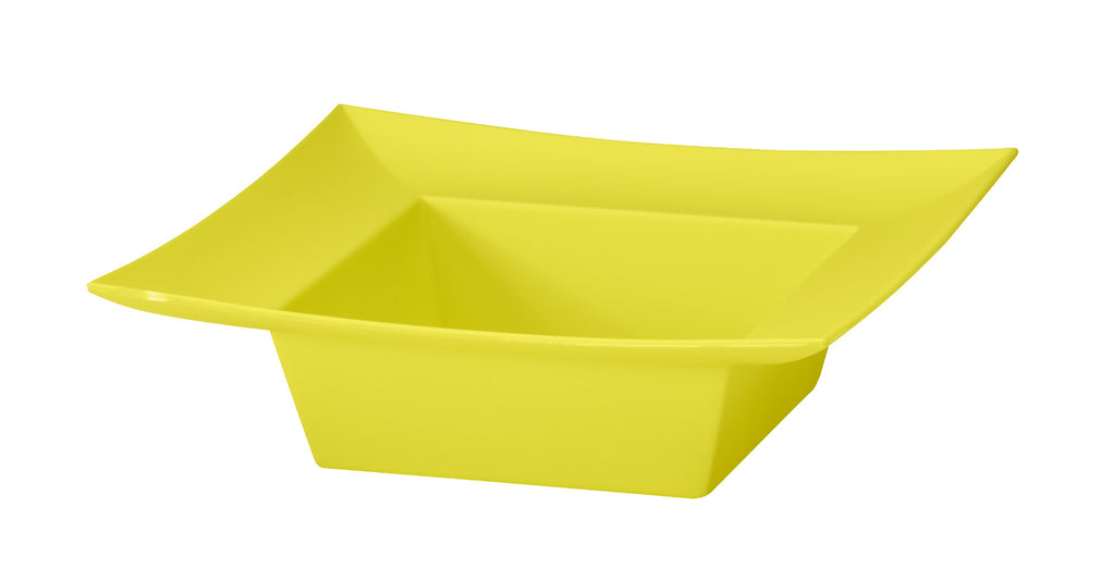 "45-82309 Square Bowl 5x5x2"" - Yellow - Cs(24)"