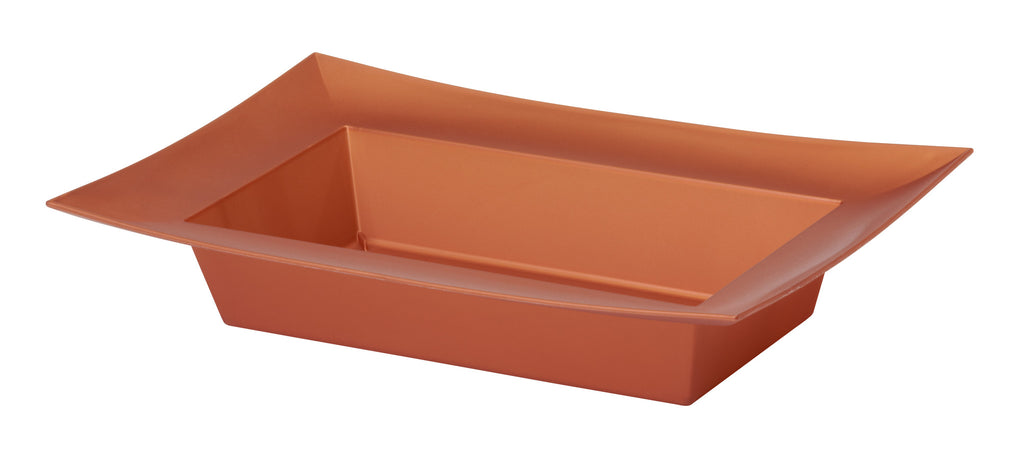 "45-82407 Rectangle Bowl 9.125x4.25x2"" - Copper - CS(24)"