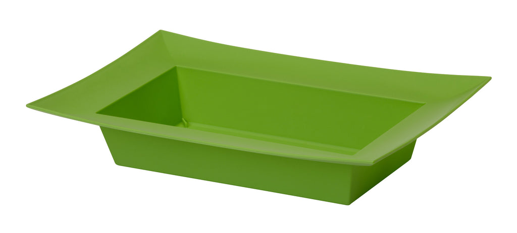 "45-82412 Rectangle Bowl 9.125x4.25x2"" - Apple Green - CS(24)"