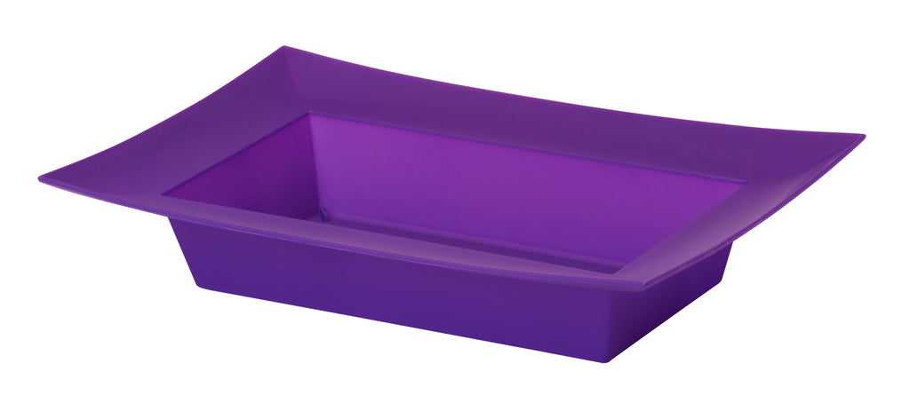 "45-82414 Rectangle Bowl 9.125x4.25x2"" - Purple - CS(24)"