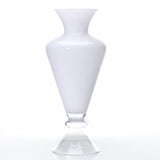 "47142.00 REFINE VASE 12X28"" - WHITE & CLEAR"