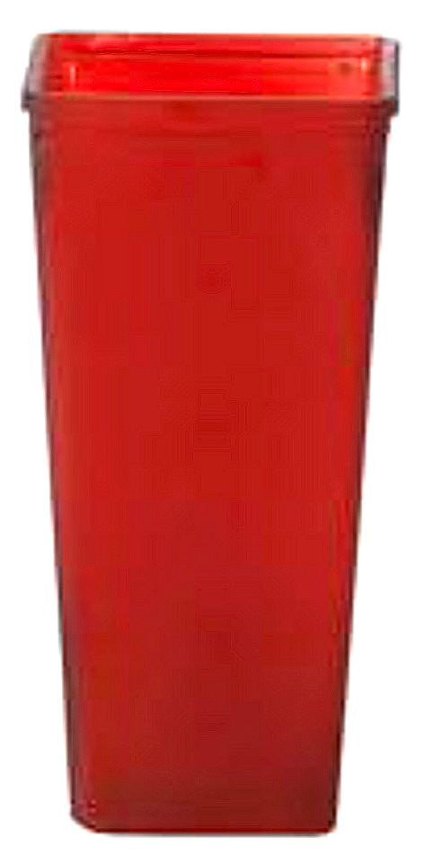 7 763gls1fr Tapered Square Vase 425x9 Fruity Red Cs12
