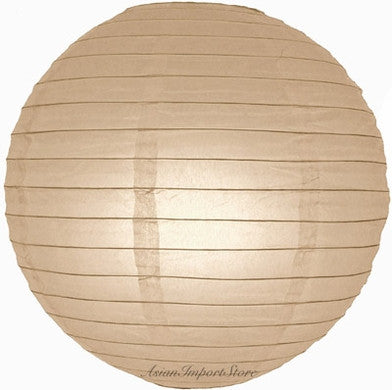 "12EVP-LT PAPER LANTERN 12"" LIGHT MOCHA CS - 6"