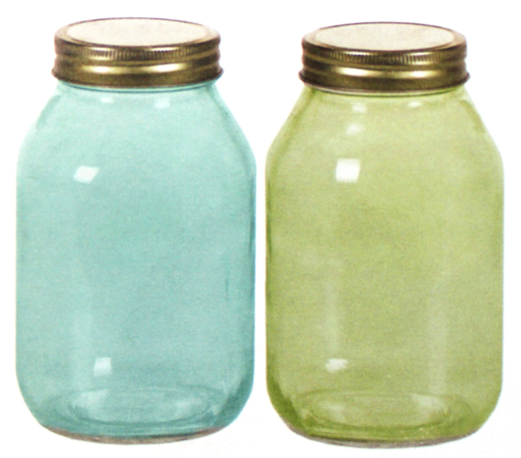 9-530GLS/1TG Glass Jar - 2 Assorted