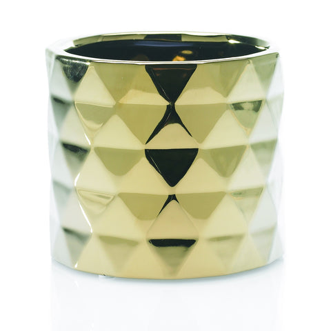 "90161.40 ARCHITECT POT 5.75X5"" - GOLD - CS(12)"