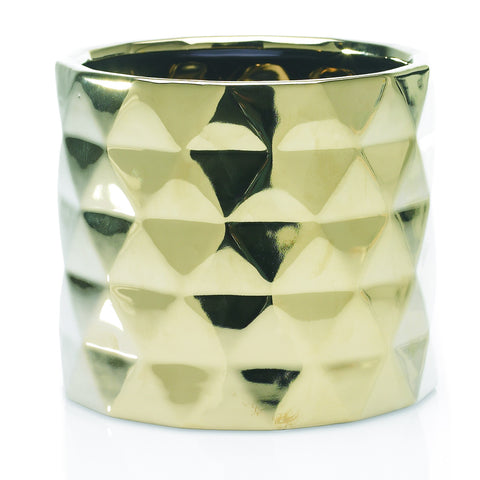 "90162.40 ARCHITECT POT 7X6.25"" - GOLD - CS(8)"
