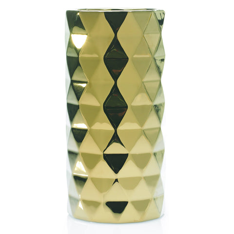 "90165.40 ARCHITECT VASE 5.25X11"" - GOLD - CS(8)"