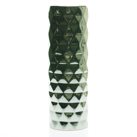"90167.00 ARCHITECT VASE 5.25X16"" - SILVER - CS(6)"