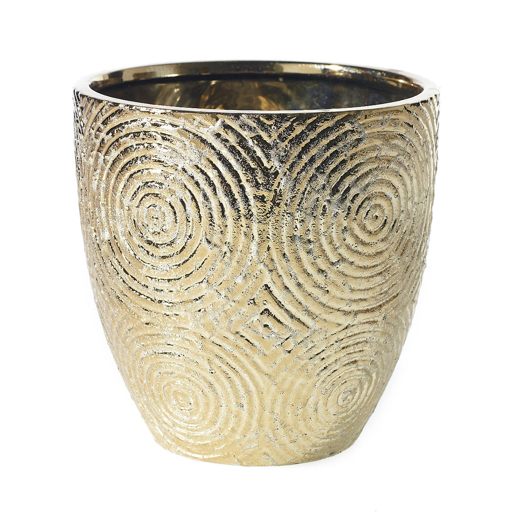 "90171.40 STRATA POT 7X7.5"" - GOLD - CS(6)"