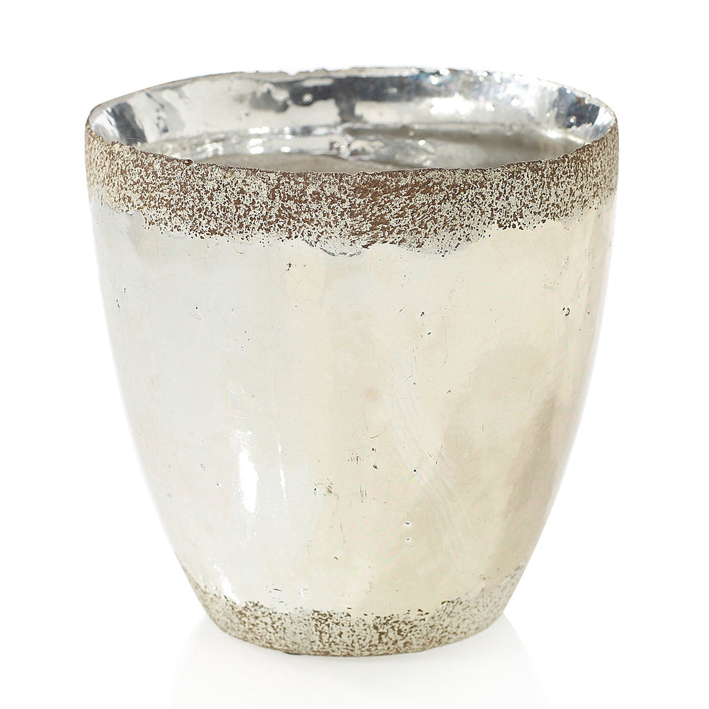 "91021.50 ESSENCE POT 5X5"" - SILVER - CS(12)"