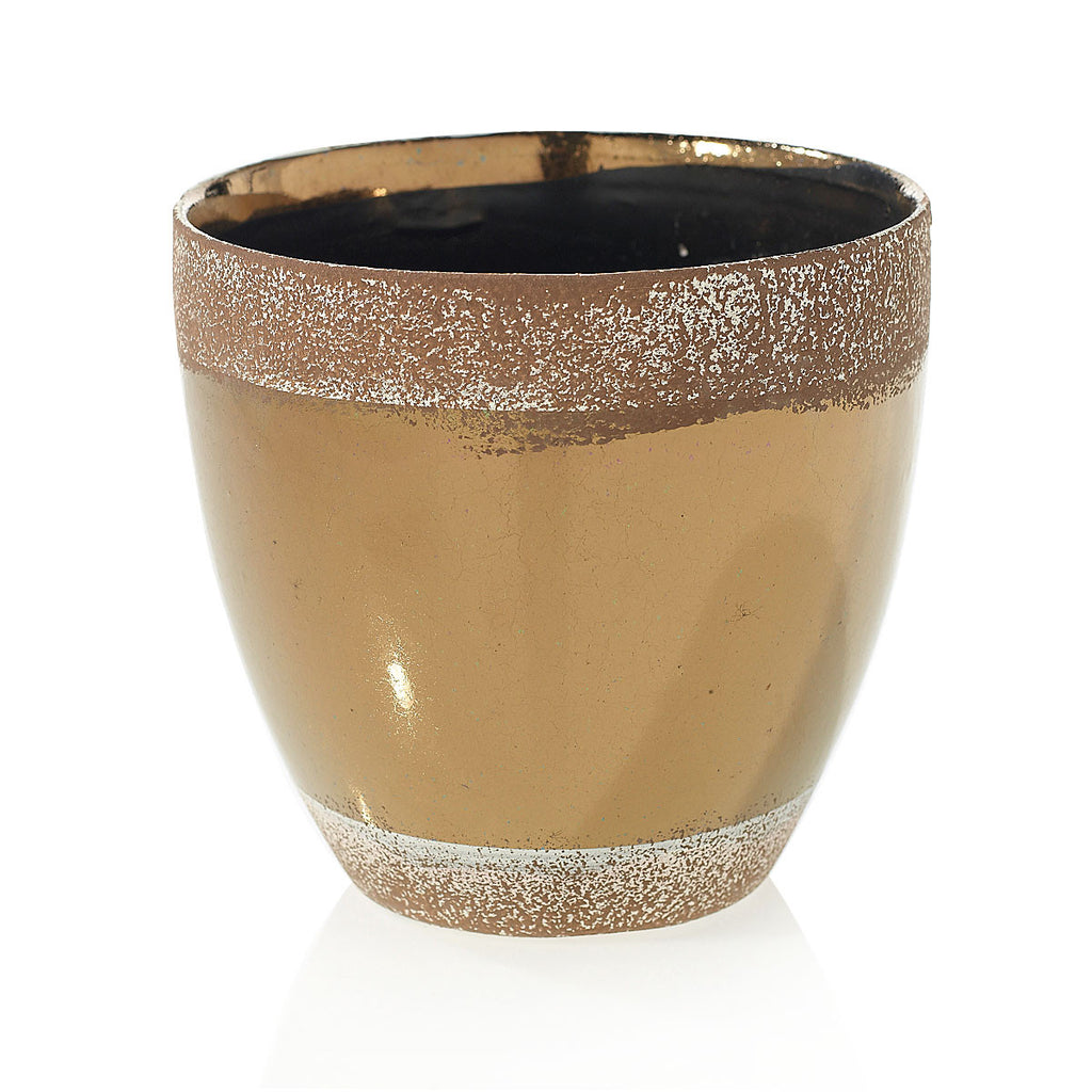 "91022.65 ESSENCE POT 5.7X5.5"" - BRONZE - CS(8)"