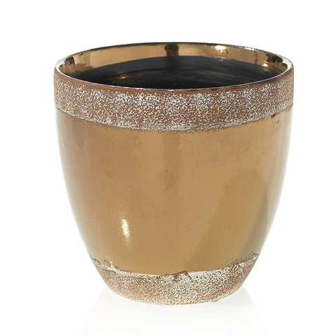"91023.65 ESSENCE POT 7x6.7"" - BRONZE - CS(8)"