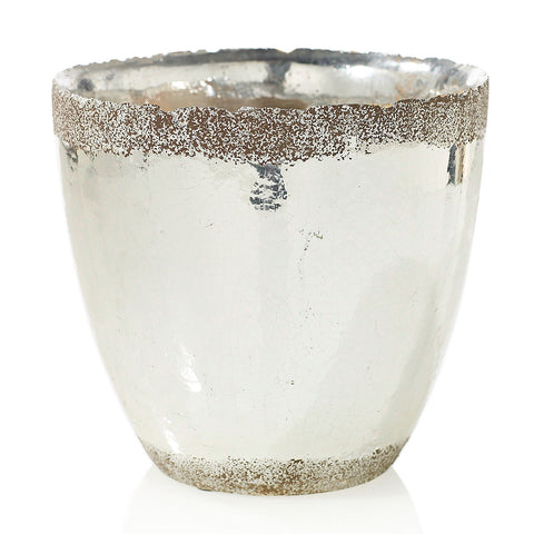 "91024.50 ESSENCE POT 8X7.7"" - SILVER - CS(4)"
