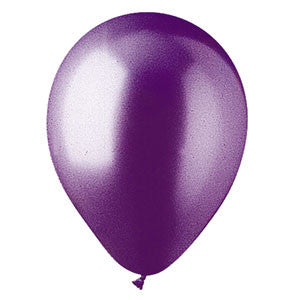 "91216 LATEX BALLOON 12"" - METALLIC PURPLE - BAG/100  CASE(6)"