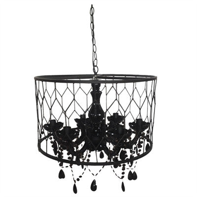 "AV37952 CHANDELIER 20""D X 13.5"" H  -BLACK  - CS(2)"
