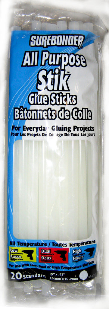 "DT-2010 ALL PURPOSE GLUE STICKS 10"" - 20/PK - CS(25)"