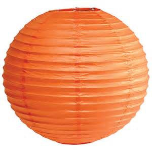 "12EVP-BO PAPER LANTERN 12"" BURNT ORANGE CS - 6"