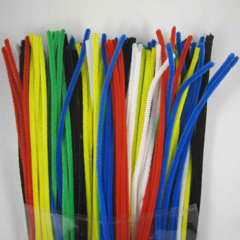 "622 CHENILLE STEMS 12"" - BLACK - CS(10)"