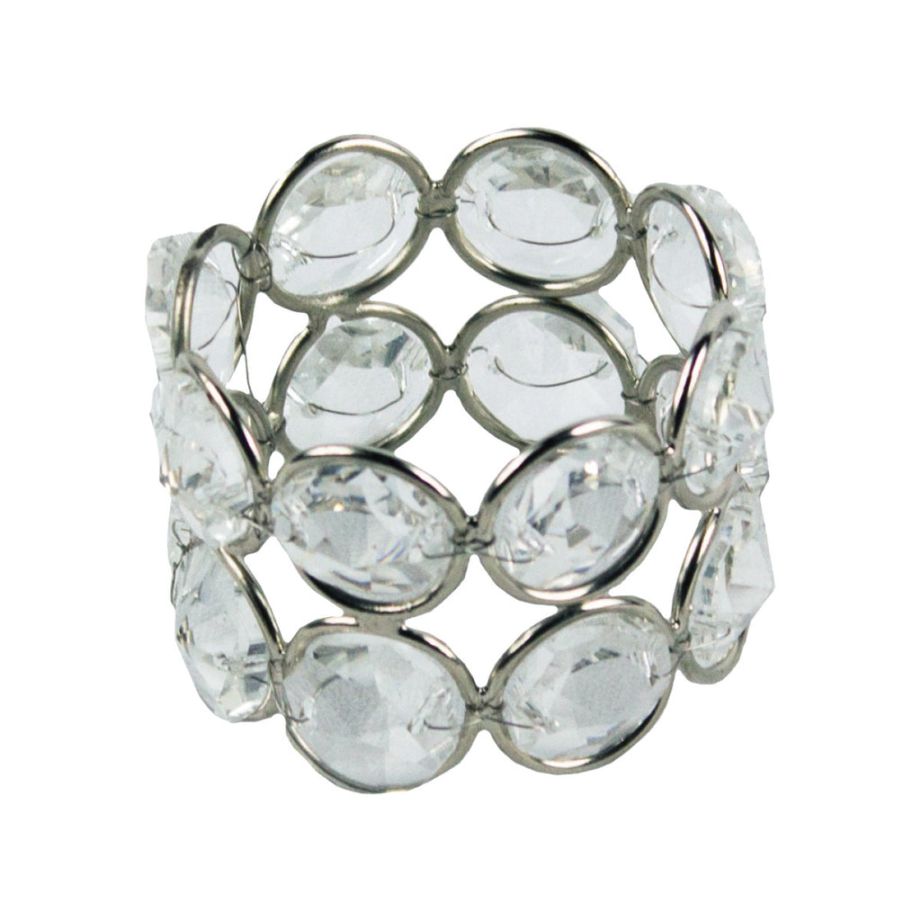 "80075 CRYSTAL NAPKIN RING Double Ring 1.5x2.25"" - BX 6 CS(6)"