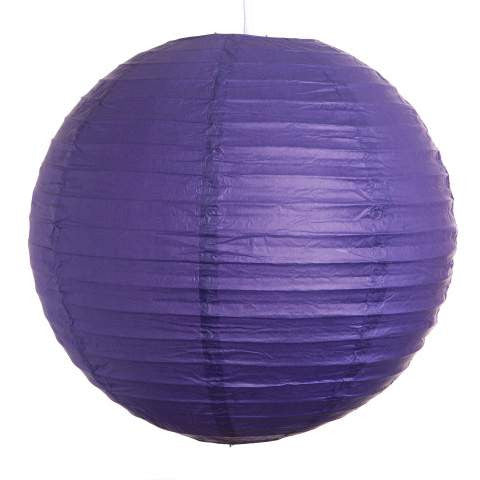 "8EVP-DPU PAPER LANTERN 8"" DARK PURPLE CS - 6"