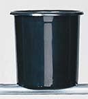 "E30-12-04 COOLER BUCKET 7x8"" - BLACK - CS(12)"