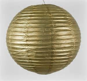 "12EVP-GD PAPER LANTERN 12"" GOLD CS - 6"