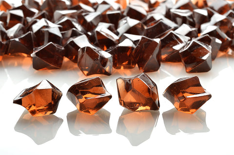 GM-BR ACRYLIC GEMSTONES 3/4LB - BROWN - CS(12)