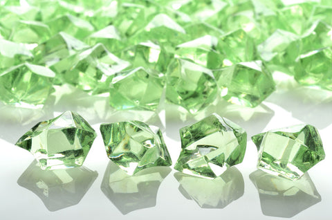 GM-LL ACRYLIC GEMSTONES 3/4LB - LIGHT LIME - CS(12)