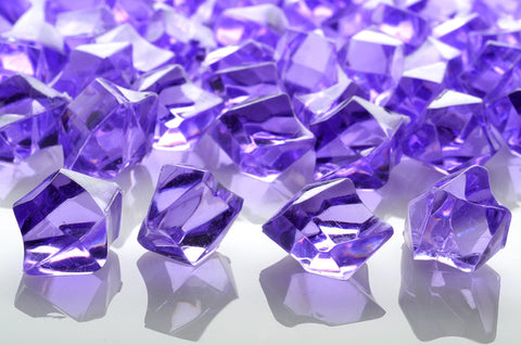 GM-LV ACRYLIC GEMSTONES 3/4LB - LAVENDER - CS(12)
