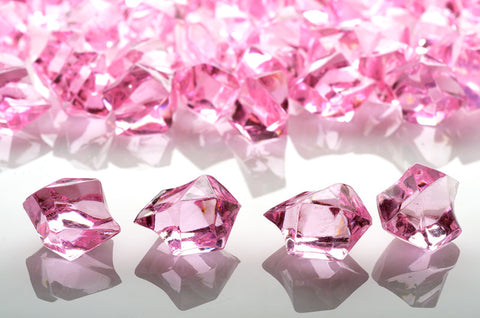GM-PK ACRYLIC GEMSTONES 3/4LB - PINK - CS(12)