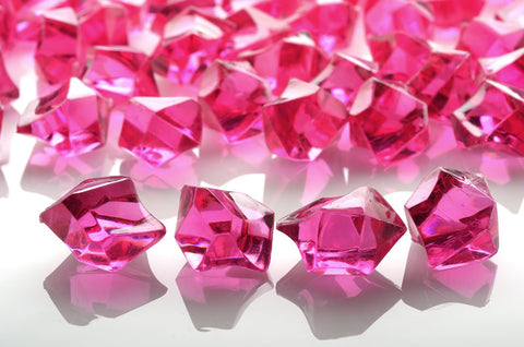 GM-RP ACRYLIC GEMSTONES 3/4LB - FUSCHIA - CS(12)