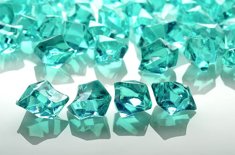 GM-TL ACRYLIC GEMSTONES 3/4LB - TEAL - CS(12)
