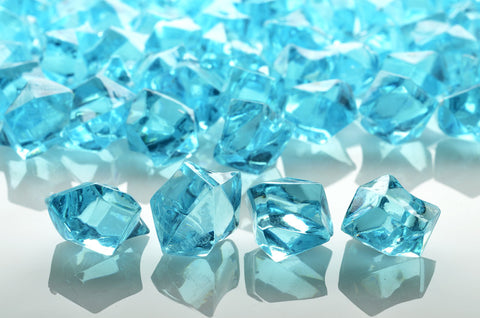 GM-WB ACRYLIC GEMSTONES 3/4LB - WATER BLUE - CS(12)