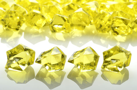 GM-YE ACRYLIC GEMSTONES 3/4LB - YELLOW - CS(12)