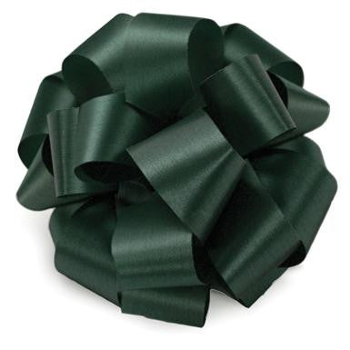 "R3HNTGRN Acetate Satin Ribbon 5/8""x100yds - Hunter Green  - CS(12)"